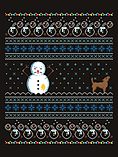 Men's Yellow Snow Christmas Sweater Black: Small (Mens 36 - 38) screen shot 1