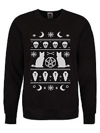 Bewitched Women's Christmas Sweater Black: Skinny Fit Extra Large (UK 14 - 16)Clothing and Merchandise