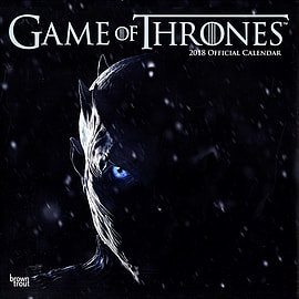 Game of Thrones 2018 Wall Calendar 30x30cmBooks