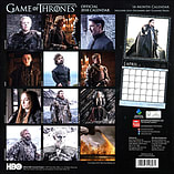 Game of Thrones 2018 Wall Calendar 30x30cm screen shot 1
