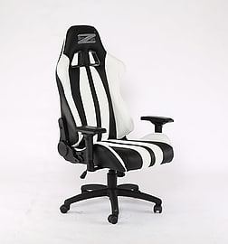 BraZen Sultan Elite PC Gaming Chair Black/WhiteMulti Format and Universal