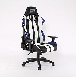 BraZen Sultan Elite PC Gaming Chair Black/Blue/WhiteMulti Format and Universal