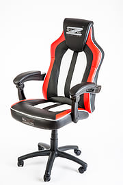 BraZen Stealth 4.0 Surround Sound Bluetooth PC Gaming Chair - Black/White/RedMulti Format and Universal
