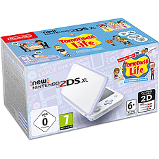 New Nintendo 2DS XL White + Lavender + Tomodachi Life for 2DS/3DS