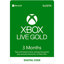 Xbox Live 3 Month Gold Membership + 3 Months Free