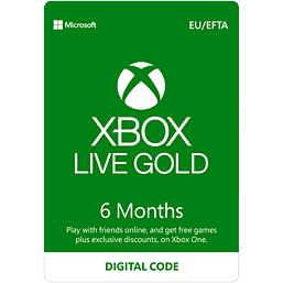 Xbox Live 6 Month Gold Membership