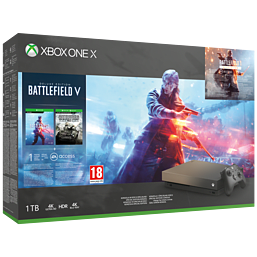 Xbox One X 1TB Gold Rush Special Edition Battlefield V Bundle