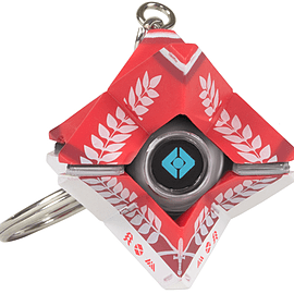 3D Last City Ghost Keychain