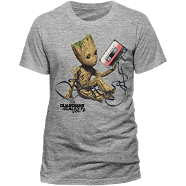 Guardians Of The Galaxy Vol 2 - Groot And Tape T-Shirt - Medium - Only at GAME