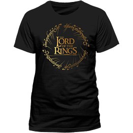 Lord Of The Rings - Gold Foil Logo T-Shirt - Large