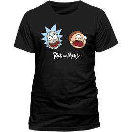 Rick And Morty - Heads T-Shirt - Medium