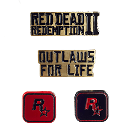Red Dead Redemption 2 Pin Badge Set