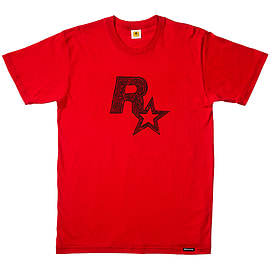 Red Dead Redemption 2 Rockstar Games Logo Red T-Shirt - S