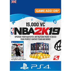 NBA 2K19 15,000 VC for PlayStation 4