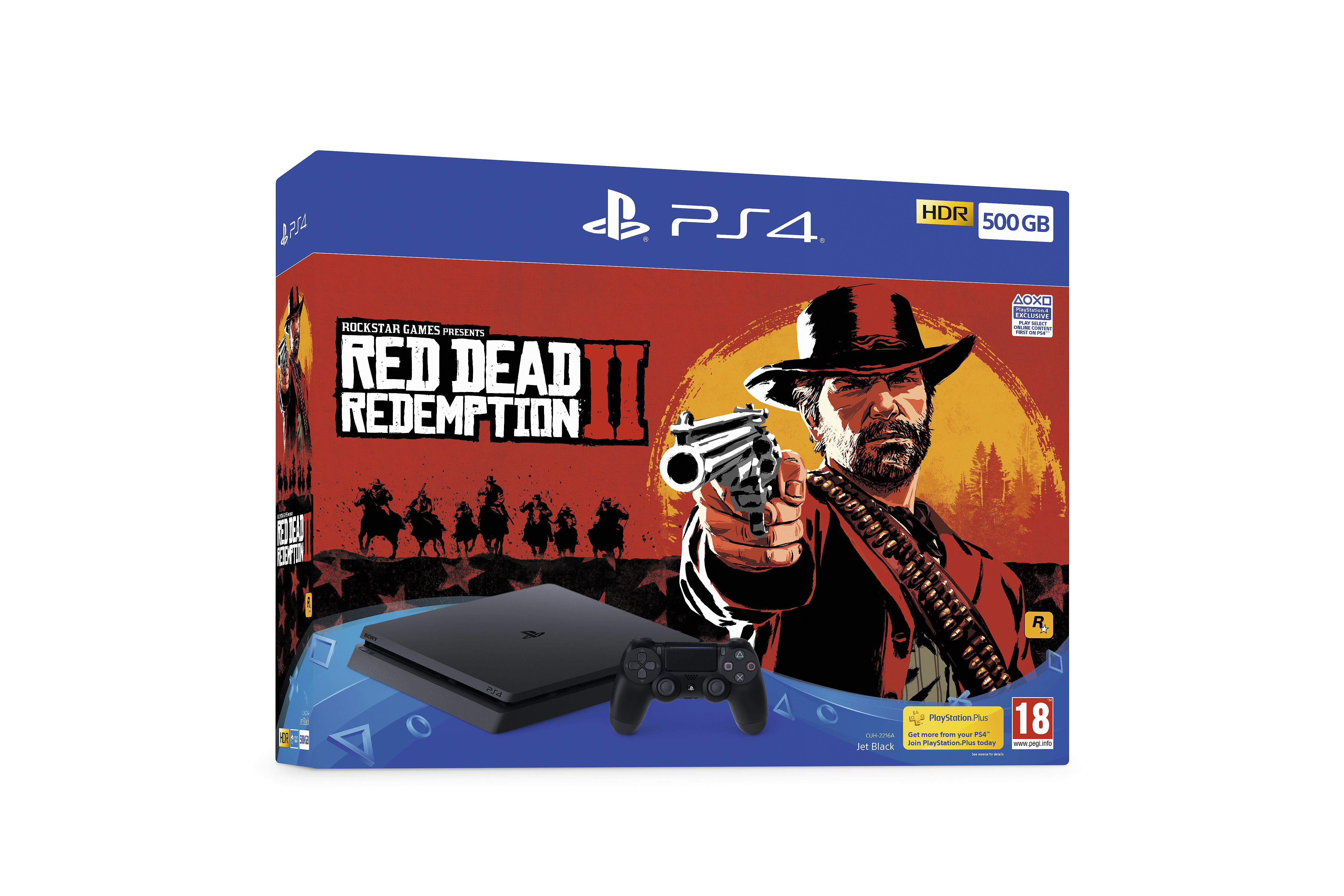 Ps4 500gb Bundles With Red Dead Redemption 2 Game Sony Playstation 4 Black Bundle