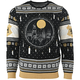 Harry Potter: Hogwarts Castle Candle Lights Large Christmas Jumper