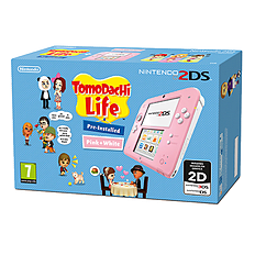 Nintendo 2DS Pink & White Console with Tomodachi Life Bundle for 2DS/3DS