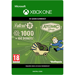 Fallout 76: 1000 (+100 Bonus) Atoms for Xbox One
