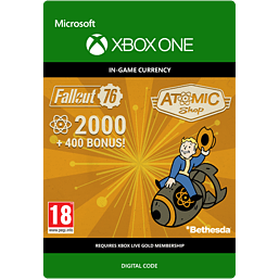 Fallout 76 - 2000 (+400 Bonus) Atoms for Xbox One