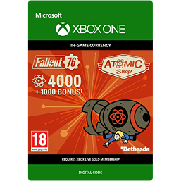 Fallout 76 - 4000 (+1000 Bonus) Atoms for Xbox One