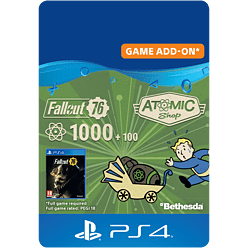 Fallout 76: 1000 (+100 Bonus) Atoms for PlayStation 4