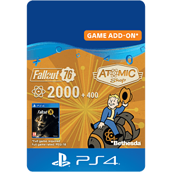 Fallout 76: 2000 (+400 Bonus) Atoms for PlayStation 4