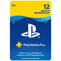 PlayStation®Plus: 12 Month Membership - 20% Off for PlayStation 4