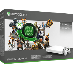 Xbox One X Robot White Special Edition 1TB Console - Starter Bundle