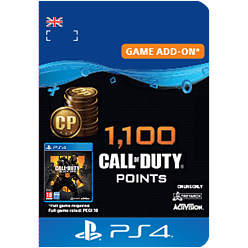 1,100 Call of Duty®: Black Ops 4 Points
