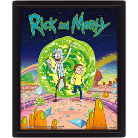 Rick and Morty 3D Lenticular Poster
