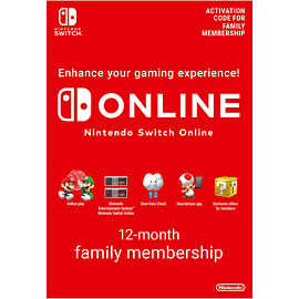 Nintendo Switch Online 12 Month (365 Day) Family Membership