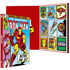 Official Marvel: Iron Man Retro Pin Set