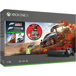 Xbox One X Forza Horizon 4 Bundle and Forza Motorsport 7 with Apex Legends Founders Pack