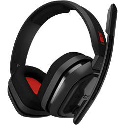 ASTRO A10 PC GAMING HEADSET - GREY/RED