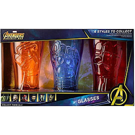 Avengers Sculpted Glasses (Captain America/Iron Man/Spider Man)