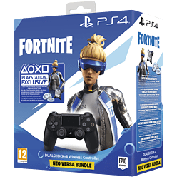 Fortnite Neo Versa PlayStation DUALSHOCK 4 Controller Bundle - GAME Exclusive