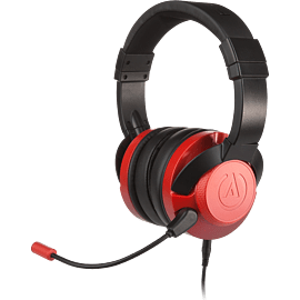 The PowerA FUSION Wired Gaming Headset Crimson Fade