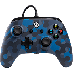 PowerA Wired Controller for Xbox One – Stealth Blue Camo