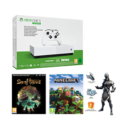 Xbox One S 1TB All Digital Edition V2 Including Sea of Thieves, Minecraft and Fortnite: Battle Royale
