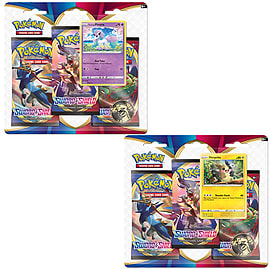 Pokemon TCG: Sword & Shield 3-Pack Booster Display