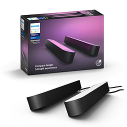 Philips Hue Play White & Colour Ambiance Smart Light Bar Double Pack Base Unit, Black