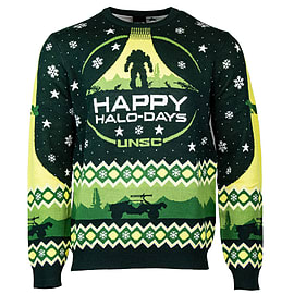 Official Halo 'Happy Halo-Days' Christmas Jumper - S