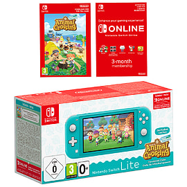 Nintendo Switch Lite (Turquoise) + Animal Crossing New Horizons + NSO 3 months