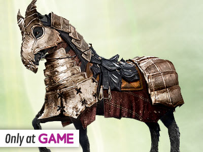 Preorder Bonus: Only at GAME Flames of the Inquisition Armored Mount!